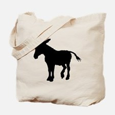 Donkey Silhouette Tote Bag
