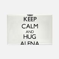 Keep Calm and HUG Alena Magnets