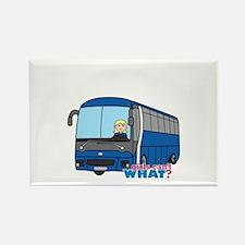 Bus Driver Light/Blonde Rectangle Magnet