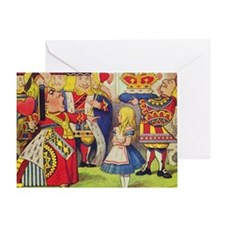The Queen of Hearts with Alice Greeting Card