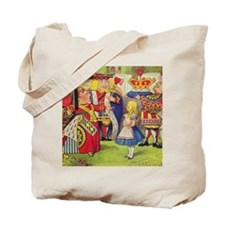 The Queen of Hearts with Alice Tote Bag