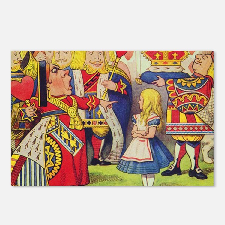 The Queen of Hearts with  Postcards (Package of 8)
