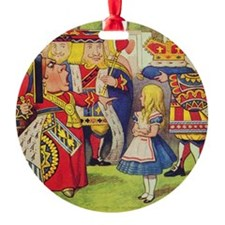 The Queen of Hearts with Alice Ornament