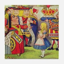 The Queen of Hearts with Alice Tile Coaster