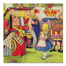 """The Queen of Hearts with Square Car Magnet 3"""" x 3"""""""