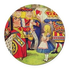 The Queen of Hearts with Alice Round Car Magnet