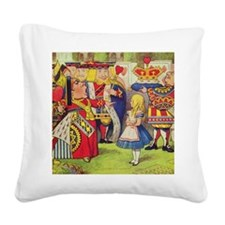 The Queen of Hearts with Alic Square Canvas Pillow