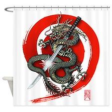 Dragon Katana02 Shower Curtain