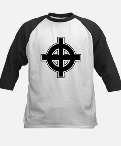 Celtic Cross Square Kids Baseball Jersey