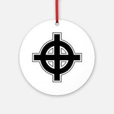 Celtic Cross Square Ornament (Round)