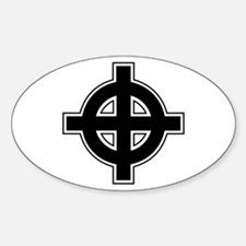 Celtic Cross Square Decal