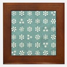 SNOWFLAKES Framed Tile
