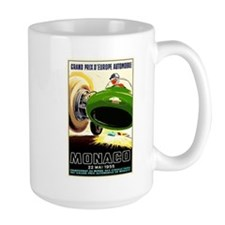 Vintage 1955 Monaco Grand Prix Race Poster Mugs