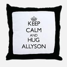 Keep Calm and HUG Allyson Throw Pillow