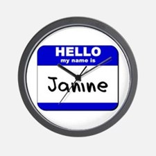 hello my name is janine  Wall Clock