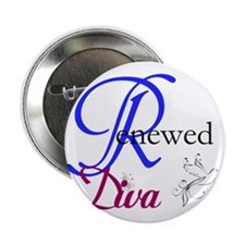 """ReNewed Diva Collection 2.25"""" Button"""