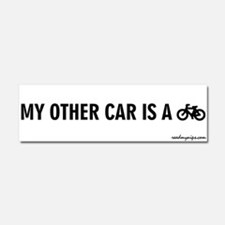 Funny My other car is a broom Car Magnet 10 x 3
