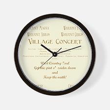 Village Concert Wall Clock