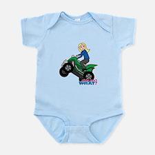 ATV Woman Blonde Infant Bodysuit