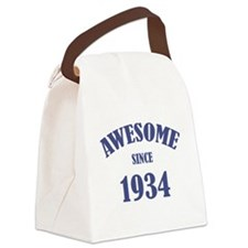 Awesome Since 1934 Canvas Lunch Bag