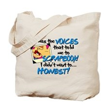 Scrapbooking Voices Tote Bag