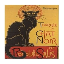 Chat Noir Tile Coaster