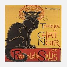 Chat Noir Tile Coaster
