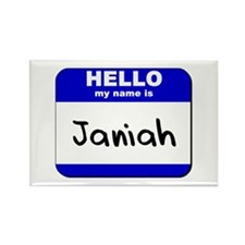hello my name is janiah Rectangle Magnet