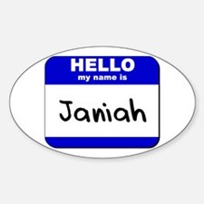 hello my name is janiah Oval Decal