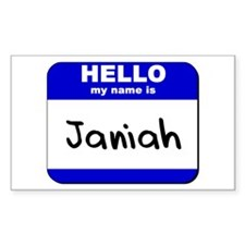 hello my name is janiah Rectangle Decal