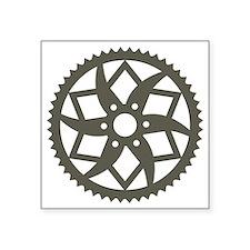 "Bike chainring Square Sticker 3"" x 3"""