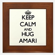 Keep Calm and HUG Amari Framed Tile