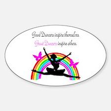 DAZZLING DANCER Sticker (Oval)