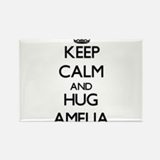 Keep Calm and HUG Amelia Magnets