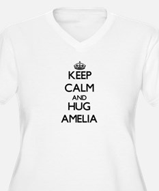 Keep Calm and HUG Amelia Plus Size T-Shirt