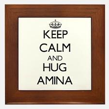 Keep Calm and HUG Amina Framed Tile