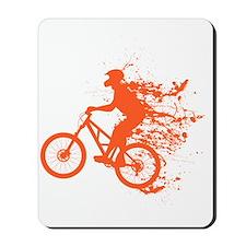 Biker splash light red Mousepad