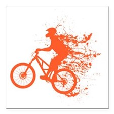 "Biker splash light red Square Car Magnet 3"" x 3"""