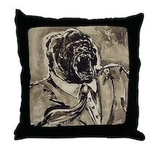 Business Gorilla Throw Pillow