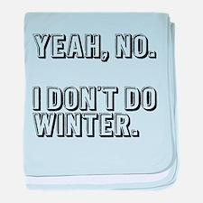 No Winter baby blanket