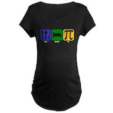Eat Sleep Pi Maternity T-Shirt