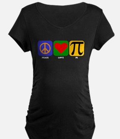 Peace Love Pi Maternity T-Shirt