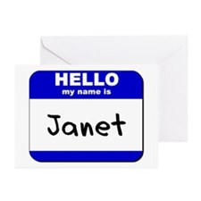 hello my name is janet  Greeting Cards (Package of
