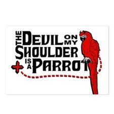 Devil Parrot Postcards (Package of 8)