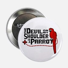 """Devil Parrot 2.25"""" Button"""
