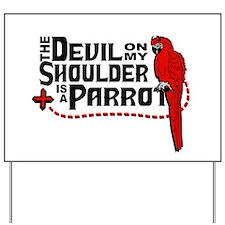 Devil Parrot Yard Sign