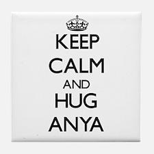 Keep Calm and HUG Anya Tile Coaster