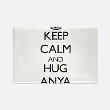 Keep Calm and HUG Anya Magnets