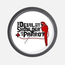 Devil Parrot Wall Clock