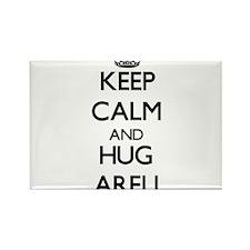 Keep Calm and HUG Areli Magnets
